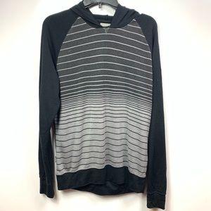 Icebreaker merino wool hooded shirt mens medium